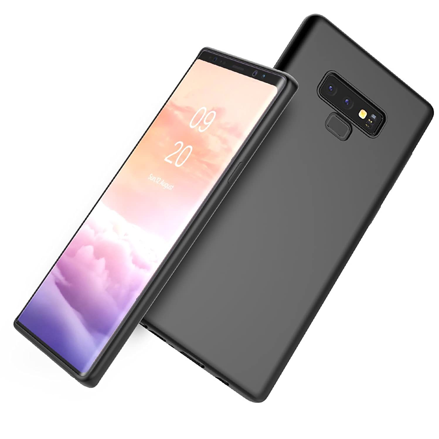 AICEDA Samsung Galaxy Note 9 Case, Thin Slim Surface Full Lens Protection Back Shell Soft Case Back Cover Compatible with Samsung Galaxy Note 9 - Black