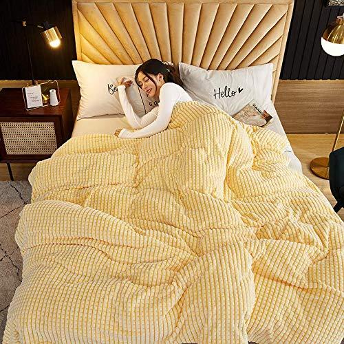 HEXIN Gelbe Kuscheldecke,Kuscheldecke Wohndecke,Tagesdecke Wohndecke, Flanelldecke – weiche,Couchdecke Mikrofaser Sofaüberwurf Superweich & Flauschig Fleecedecke für Bett & Sofa (Gelb, 180x200cm)