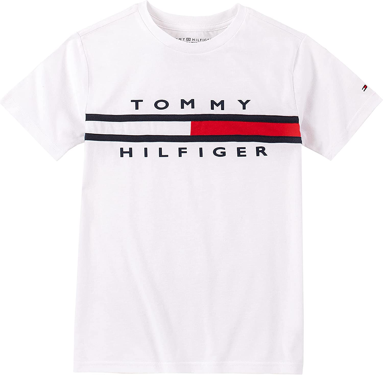 Tommy Hilfiger Boys' Short Sleeve Tommy Flag T-Shirt: Clothing