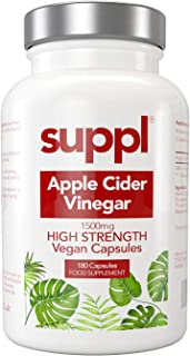 Raw Apple Cider Vinegar Capsules Tablets 1500mg Made from UK