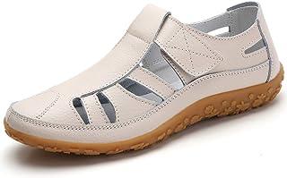 comprar comparacion Z.SUO Sandalias Mujer de Cuero Planas Cómodos Casual Mocasines Loafers Moda Zapatos Plano Verano Sandalias y Chanclas