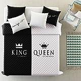 room99 Tagesdecke Steppdecke Größe: 220 cm x 240 cm Bettüberwurf Muster King und Queen