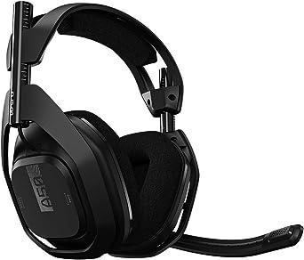 Headset Sem Fio ASTRO Gaming A50 + Base Station Gen 4 com Áudio Dolby para PS4, PC, Mac - Preto/Prata