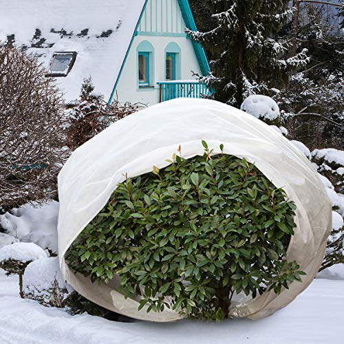 Agfabric Plant Covers Freeze Protection with Zipper 0.95oz 108''x108''Shrub Cover Winter Tree Jacket for Frost Protection & Season Extension