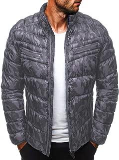 IZHH Men Winter Coat Parka Jacket Down Alternative Overcoat Puffer Sherpa Jacket