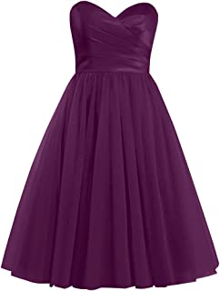 Tulle Short Homecoming Dresses Sweetheart Cocktail Prom Dress Wedding Evening Gowns