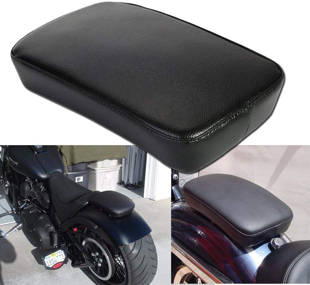 Directly managed store Leather Pillion Pad w 6 Suction Passenger Rear Seat Cup Cus For Max 53% OFF