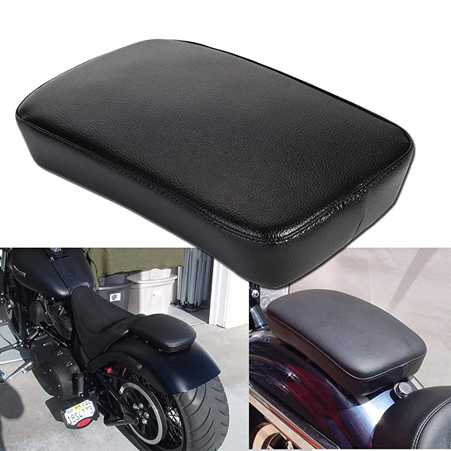 Leather Pillion Pad w/ 6 Suction Cup Rear Passenger Seat For Custom Bikes