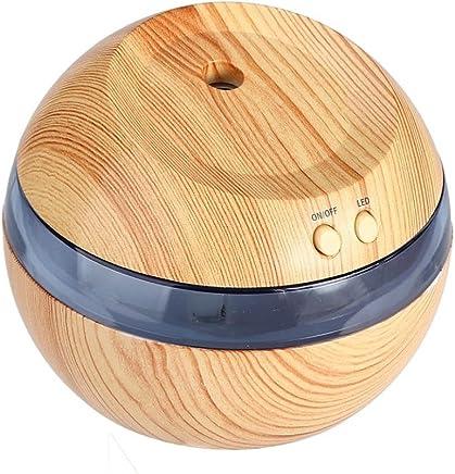 Sheremi 卓上加湿器 300ml容量 ミニ 超音波式 空気清浄機 除菌 静音 車載 寝室 各場所用 LEDライト 室内乾燥対応 空焚き防止 (100*100*85mm, イエロー)