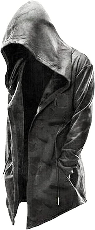 LEXUPA Hoodie Long Sleeve Suits Assassin's Creed Men's Hooded Pullover Jacket Cosplay Coat Drawstring Hoodie