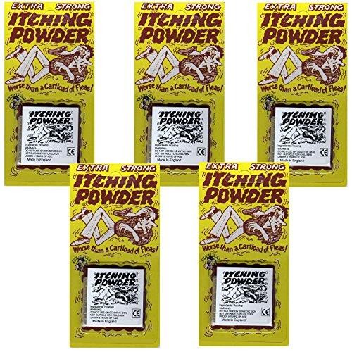 Spassprofi 5 x Juckpulver klassischer Rache Scherzartikel Itching Powder