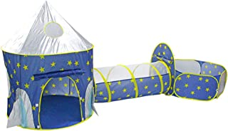 Kid Play Tent Crawl Tunnel Ball Pit Rocket Ship Indoor Outdoor Children Playhouse Castle