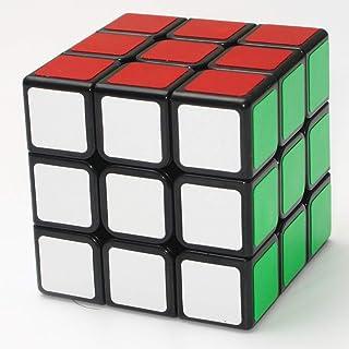 LEEEC hastighet kub 2 x 3 x 3 färg slät pusselkub, svart, slät/klistermärke