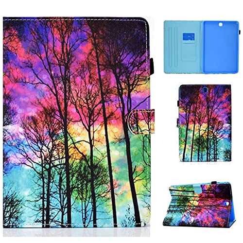 LMFULM Case for Samsung Galaxy Tab A SM-T550/T555 (9.7 Inch) PU Leather Case Protective Shell Sleeve Skin Smart Case with Sleep/Wake Stand Holster Flip Cover Color Forest