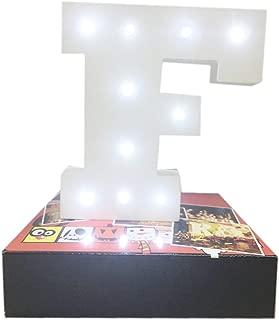 Decorative Light Up Letras Tu Nombre en las Luces,KINGCOO Batería de Madera Alfabeto Letter Signs Decorativa con Luz LED,Party Wedding Decorations,Blanco (F)