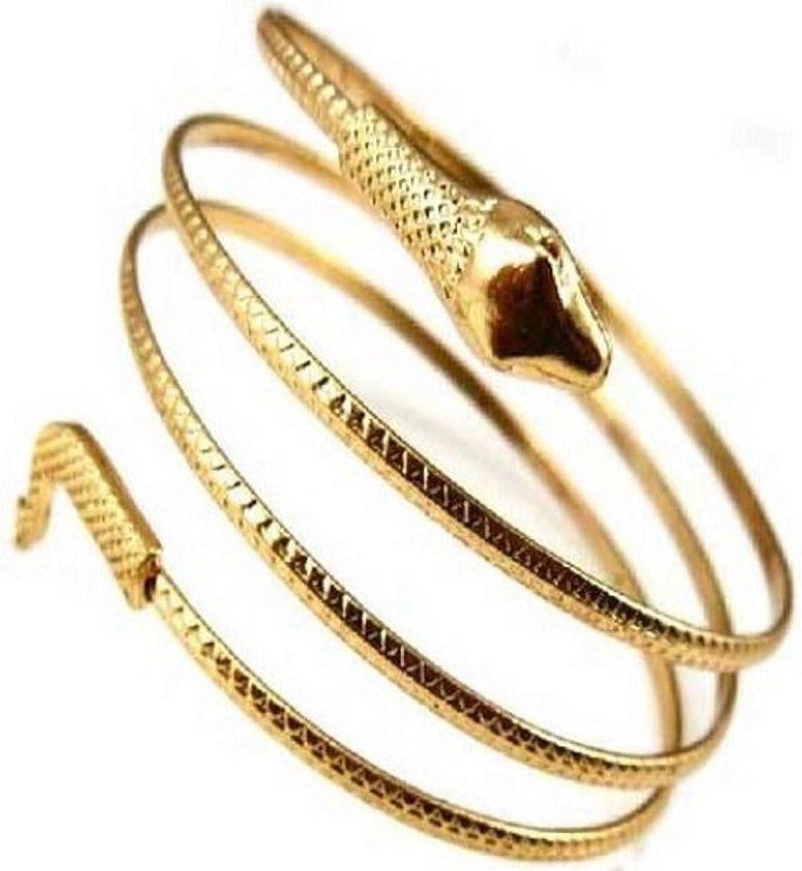 Snake Arm Cuff Bracelet for Women Vintage Punk Armlet Armband Open Bangle Bracelet for Girls Egypt Cleopatra Bracelets for Daughter Christmas Birthday Gifts