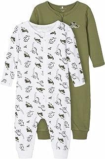 NAME IT baby – pojkar Nbmnightsuit 2p Zip Loden Dino Noos Bebisar och småbarn – pyjamas (2-pack)
