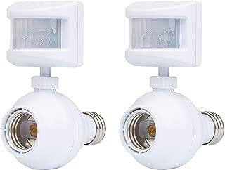 Westek Outdoor Motion Sensor Light Control, 2 Pack – This Outside Motion Sensor Light Socket Device Turns On Lights When Movement is Detected – Screw-In Light Bulb Socket Adapter, 20ft Distance