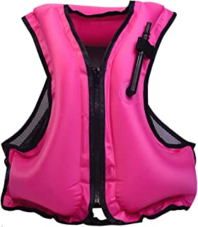 Naxer Inflatable Snorkel Vest PFD Kayak Life Jackets Vests for Adults 90lb-220lb Easy Swimming and Kayaking