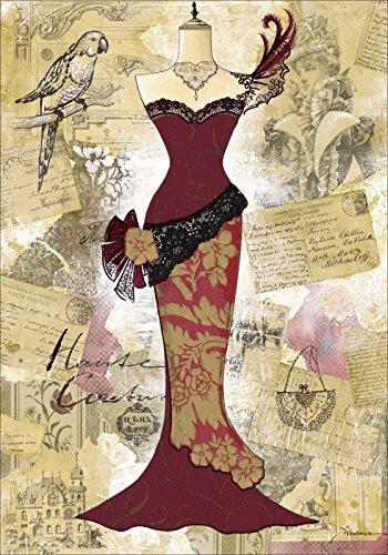 Artland Wandbilder selbstklebend aus Vliesstoff oder Vinyl-Folie K. Frolova Antikes Kleid - Collage...