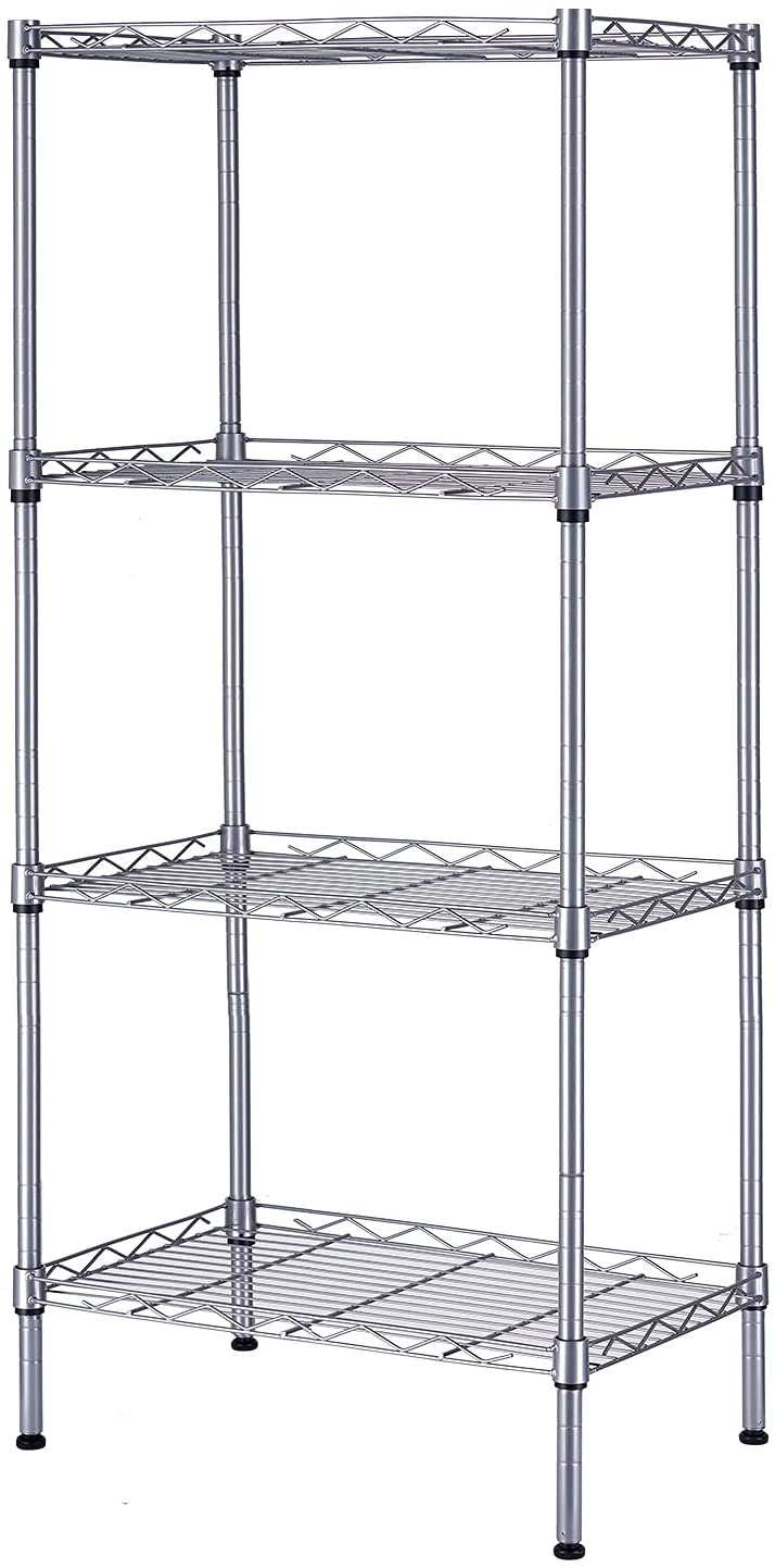 SINGAYE 4 Atlanta Mall Tier Time sale Shelf Adjustable Load Storage 350LBS Capaci