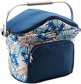 Picnic & Beyond Outdoor Travel Foldaway Aluminum Framed Picnic Cooler Basket For 4 Persons New