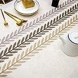SUNBEAUTY Tischdecke Rechteckig Abwaschbar Baumwolle Leinen Tischtuch Elegant Tischwäsche wasserdichte Tischdecke 140x220 cm für Home Küche Speisetisch Dekoration - 4