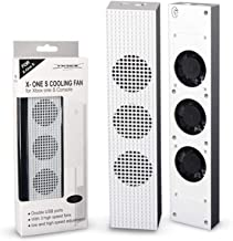 DOBE Xbox One Slim Cooling Fan, 3-Fan-Supper-Turbe High Speed Cooling system , Cooling Fan [with 3 Gears High Low Off] for Microsoft XBox One Slim Console White