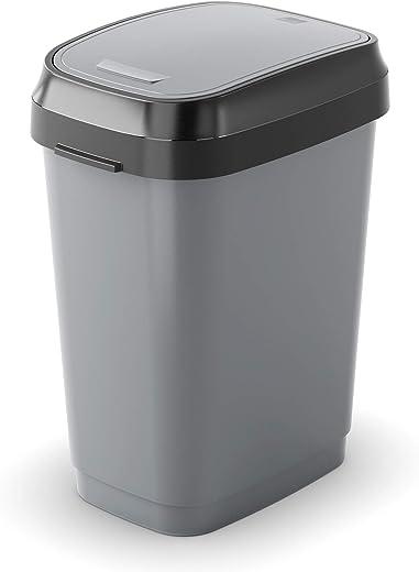 KIS Abfallbehälter, Kunststoff, grau/anthrazit, 10 Liter