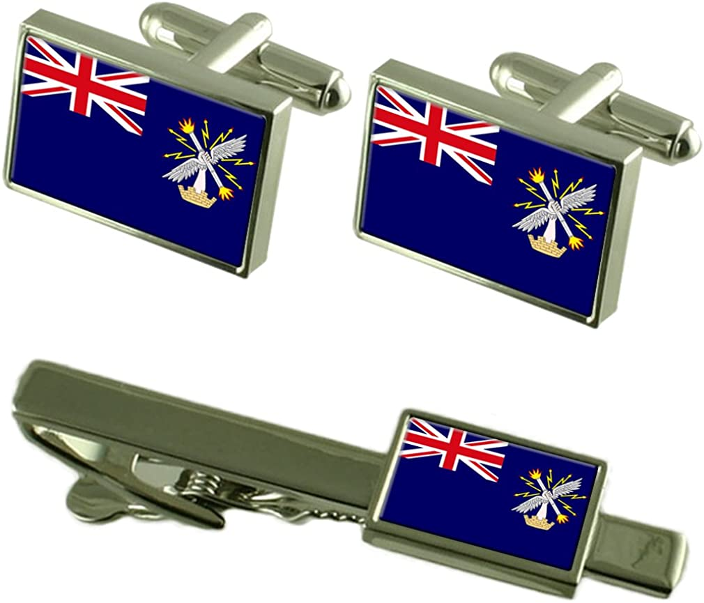 Select Gifts 5% OFF Nippon regular agency Royal Engineers Military Cufflinks Tie England Flag