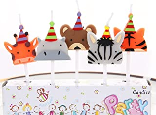 Hinsper Cute Animal Party Candles for Birthday Party Special Days Festivals