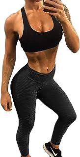 9b00dd1b827bc Fittoo Women's Honeycomb Ruched Butt Lifting High Waist Yoga Pants Chic  Sports Stretchy Leggings