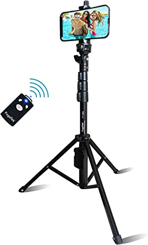 Selfie Stick & Tripod Fugetek, Integrated, Portable All-in-One Professional, Heavy Duty Aluminum, Bluetooth Remote Co...
