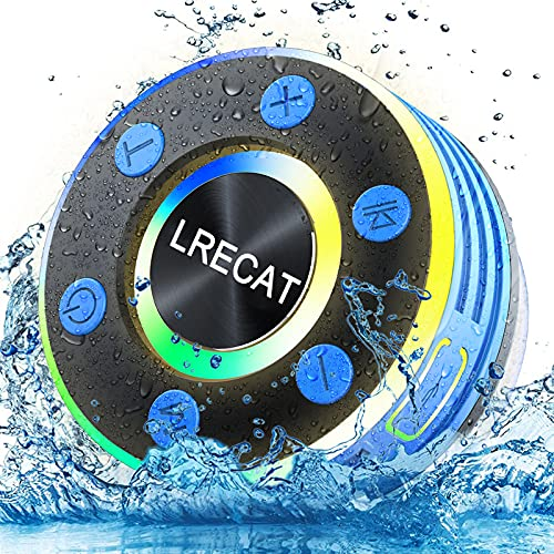 Lrecat Shower Bluetooth Speaker, Portable Wireless Outdoor Speaker with HD...