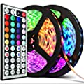 Upgraded 2020 LED Strip Lights 32.8ft RGB IP67 Waterproof with Extra Adhesive 3M Tape - Professional Changing Multi-Color LED Light Strips with Remote - Decoration Lighting for Room, Bedroom
