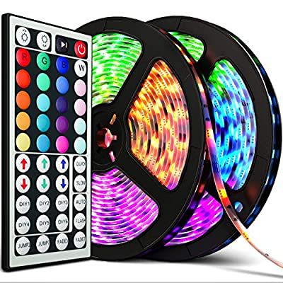 Upgraded 2020 LED Strip Lights 32.8ft RGB IP67 Waterproof with Extra Adhesive 3M Tape - Professional Changing Multi-Color LED Light Strips with Remote - Decoration Lighting for Room, Bedroom, Home