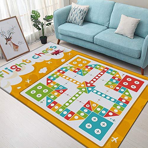 DANGONG BROTHERS Kinderspielmatte Baby-Krabbeldecke, für Wohnzimmer Schlafzimmer Rutschfester Teppich im Bildungsbereich Kinderteppich Flying Chess Carpet,Picutre6