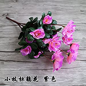 Artificial Flowers Yiting Rhododendron flower flower flower flower flower flower flower simulation flower, about 32cm high purple