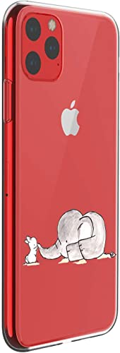 """Oihxsetx Compatible for iPhone 11 6.1"""" Case,Ultra-Thin Crystal Clear with Fashion Pattern Soft TPU Silicone Bumper [Support Wireless Charging] Shockproof Protective Phone Cover – Kiss"""