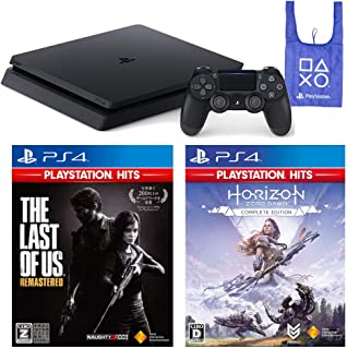 PlayStation 4 + The Last of Us Remastered + Horizon Zero Dawn Complete Edition + オリジナルデザインエコバッグ セット (ジェット・ブラック) (CUH-2200A...