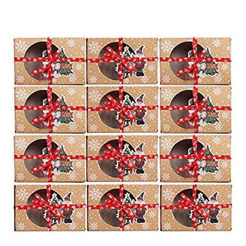 Puimentiua 6/12/24 Piezas (18 * 12 * 5cm) Cajas de Embalaje de...