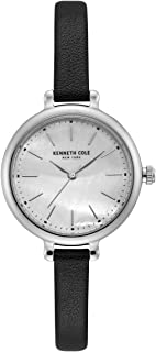 Kenneth Cole Women's Silver Dial Genuine Leather Band Watch - KC50065004