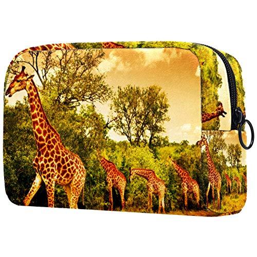 Bolsa de cosméticos para mujeres, jirafas sudafricanas, bolsas de maquillaje accesorios organizador regalos