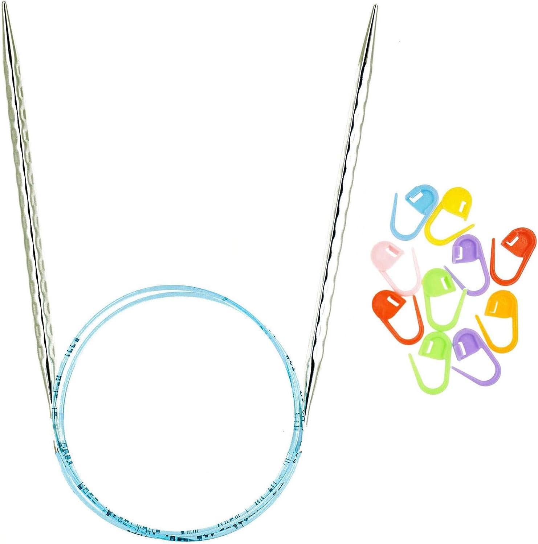 addi wholesale Knitting Needles Circular Rocket Ergonomic Squared C Blue Direct store 2