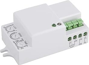 Adecuado para LED 230/V//1200/W McShine Microondas Detector de Movimiento 360//°LX PFI-701/C Color Blanco