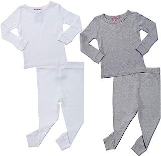 Sweet & Sassy Infant & Toddler Girls' 4-Piece Thermal Underwear Set