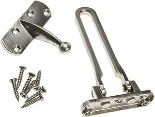 Silver Color Door Chain Restrictor Lock Limiter Strong Catch UPVC Wooden Doors