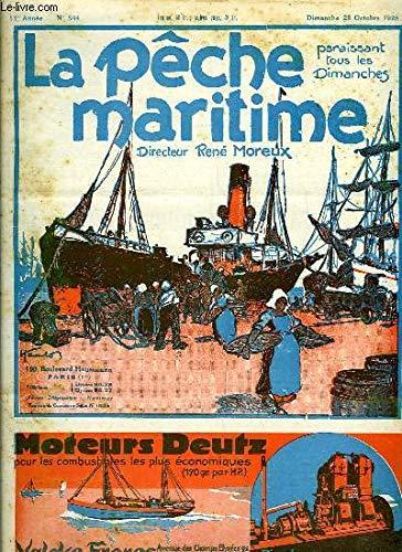 La Pêche Maritime. 11ème année - N° 544 : Les méthodes modernes de vente du poisson - L'étude des races du thon rouge - L'industrie des pêches de la Colombie britannique en 1926 ...