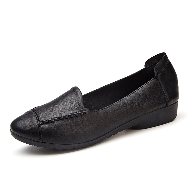 [QIFENGDIANZI] コンフォートシューズ レディース フラットシューズ 柔らかい カジュアル スリッポン 防滑 軽量 歩きやすい 疲れにくい パンプス モカシン ドライビングシューズ 婦人靴 22.5cm-25.0cm