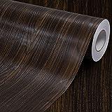 Faux grano de madera papel de contacto estante maletero de vinilo autoadhesivo cubierta para encimera de cocina gabinetes cajón muebles para pared (23.4
